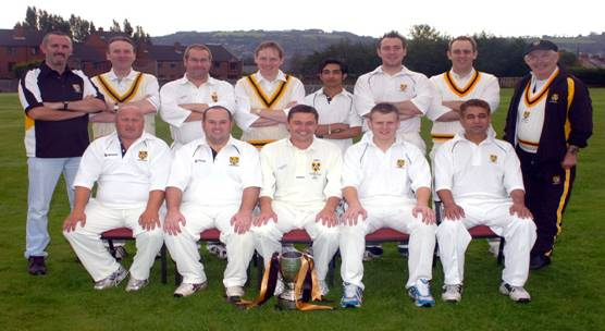 Cregagh 1st XI Section 4 League Winners 2007 - Ian, Peter and Aaron in the back row