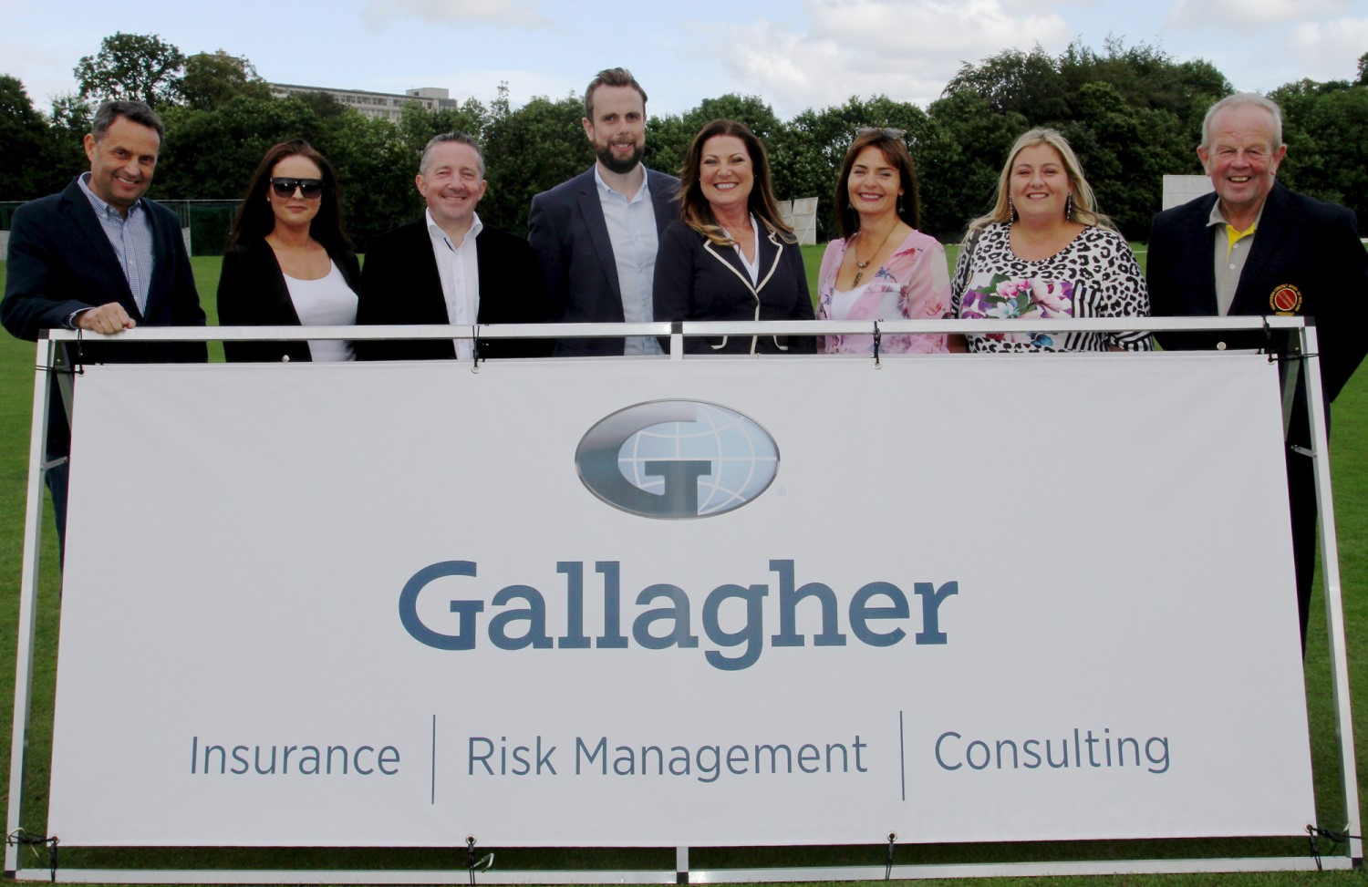 Gallaghers' representatives at today's match