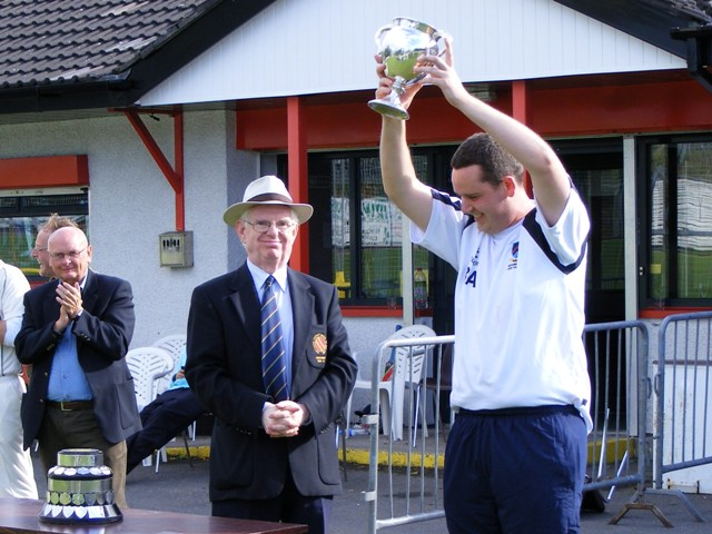 CSNI II captain Ben Adair with the Intermediate Cup