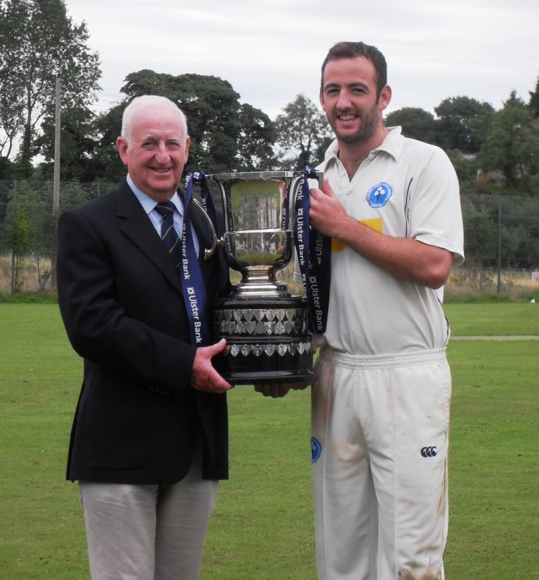 Neil Gill receives the Section 1 trophy from NCU Vice President Billy Boyd