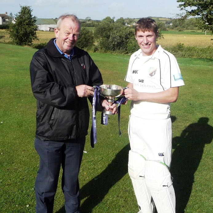 Chris Hayes receives the Section 2 trophy from Richard Johnson