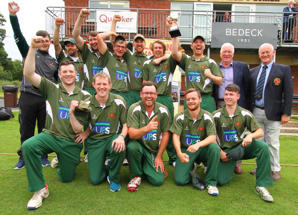 The victorious Waringstown T20 Cup winning team