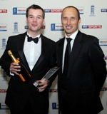 Andy McCrea pictured with Nasser Hussain