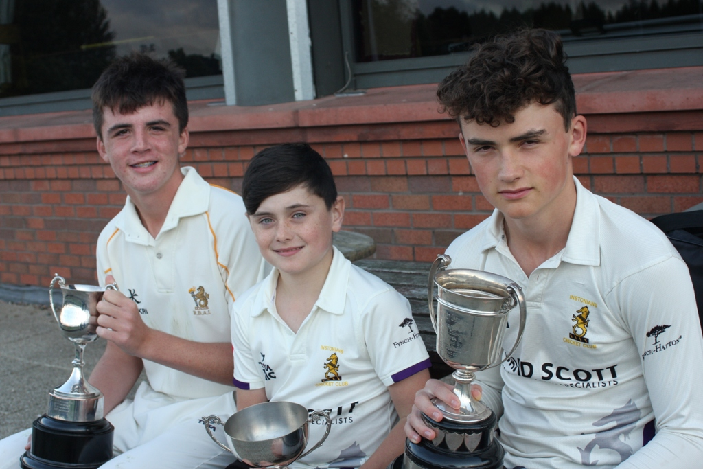Under 13s captain Rory Ellerby Under 11s captain Ben McCausland and Under 15s captain Matthew Humphreys