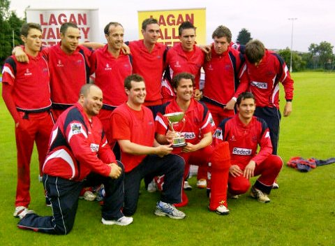 Waringstown CC who won the final of the Lagan Valley Steels Twenty20 Cup against Instonians by 6 wickets. (picture courtesy David Holmes)
