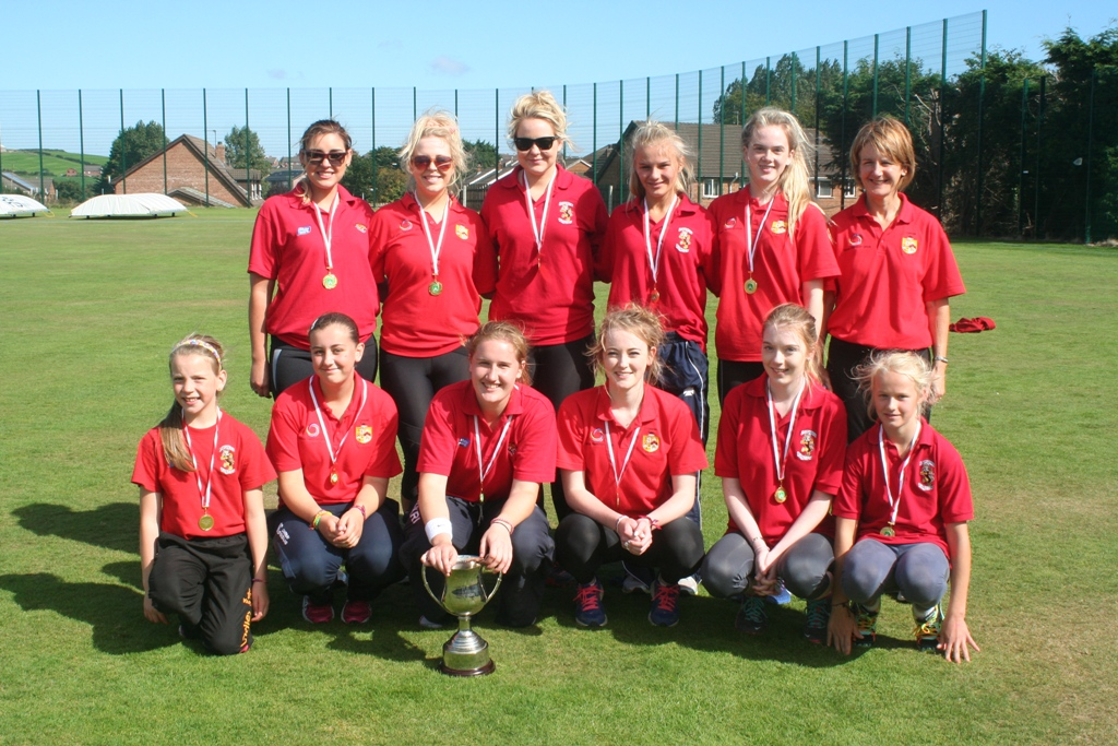 The victorious Lurgan Ladies Cricket team