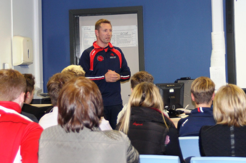 Andrew White Cricket Academy/Andrew White Addressing Parents and Players