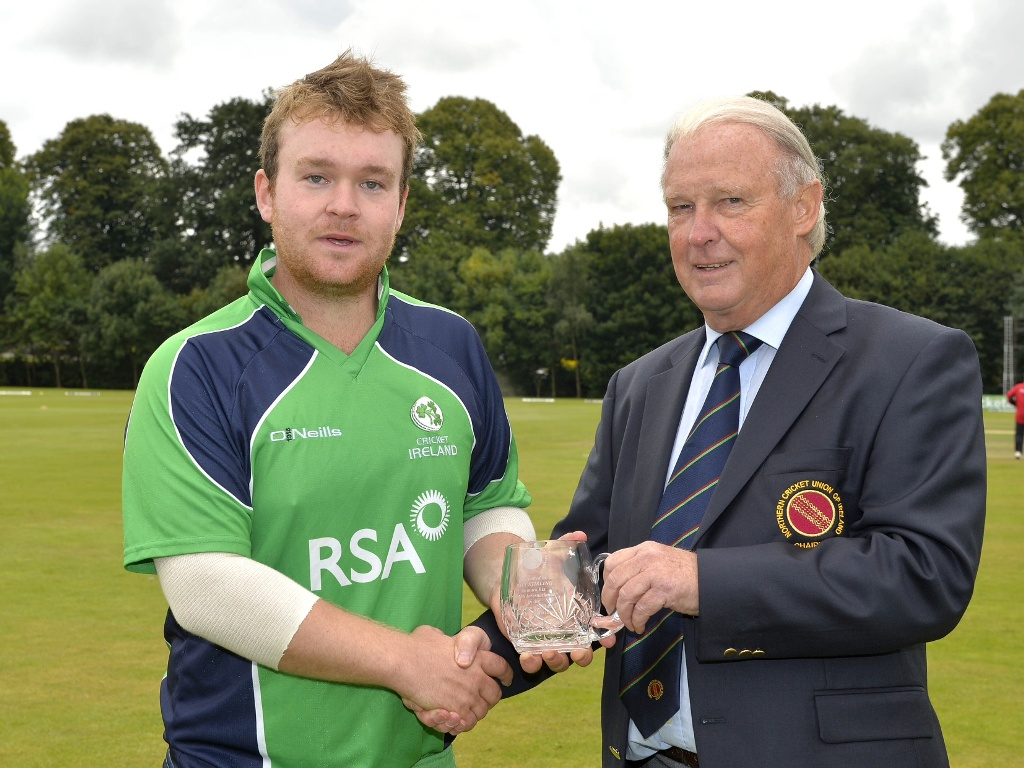 Paul Stirling and Brian Walsh - 100 caps for Ireland